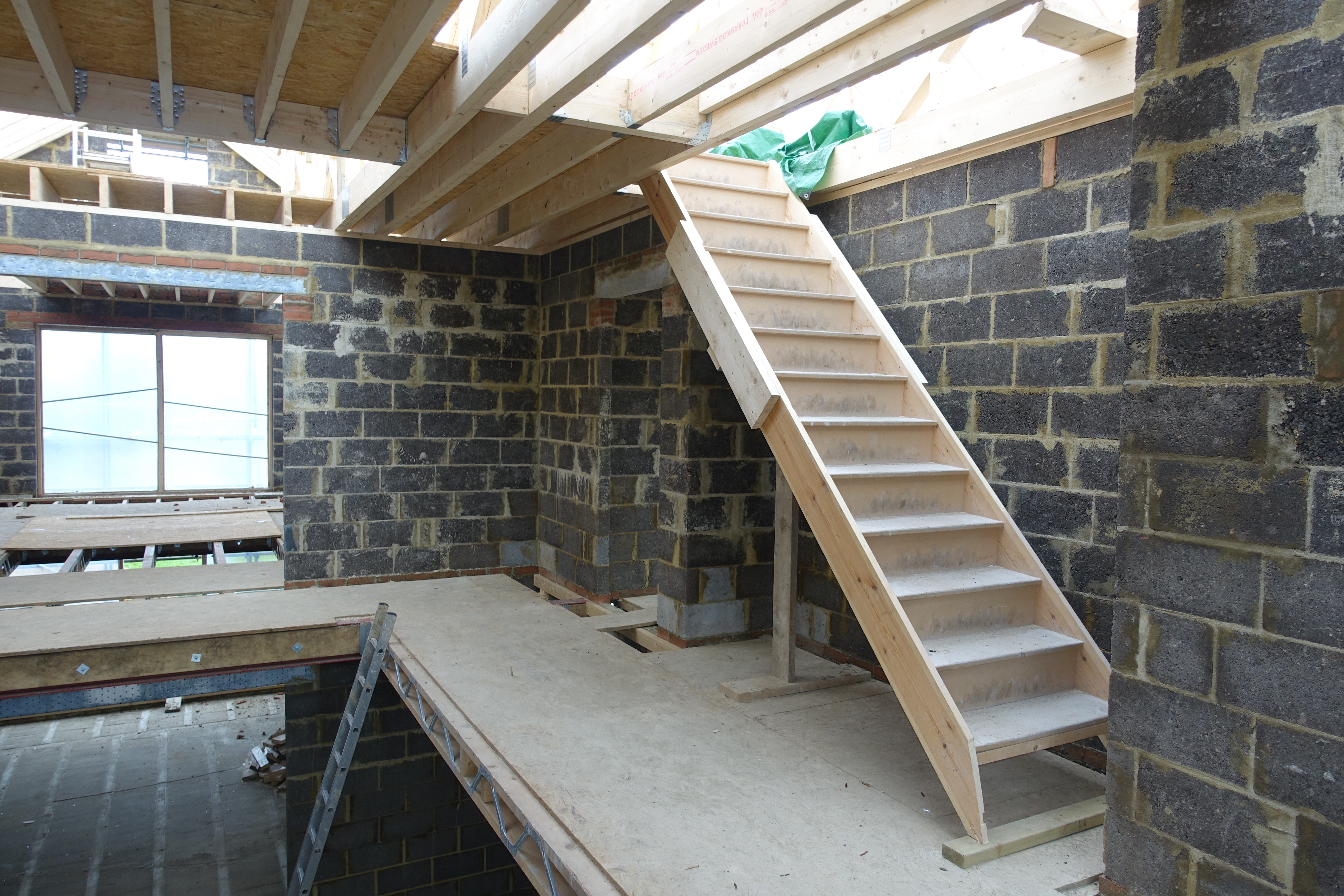 Temporary staircase to 2nd floor wood end manor for Floor 2nd